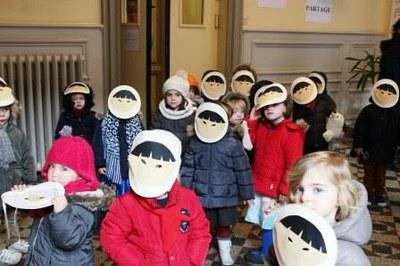 déguisement des élèves de la petite section